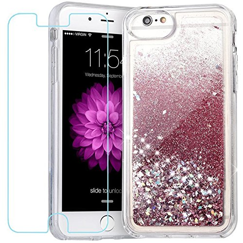 iPhone 6S Plus Case, Caka Flowing Liquid Floating Luxury Bling Glitter Sparkle TPU Bumper Case for iPhone 6