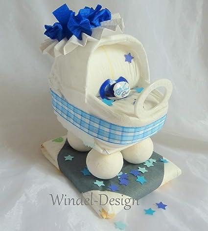 Tarta Pañales Pañales para joven carro, regalo, Baby Party, nacimiento o bautizo,