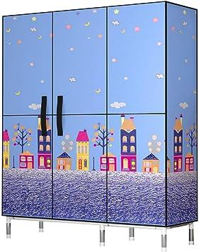 Armarios Armario de tela Bastidor de acero Varilla colgante, Organizador de almacenamiento de armario Tela no tejida, Almacenamiento de ropa de muebles de dormitorio, 128 * 45 * 172 cm (Color : C) : Amazon.es: Hogar
