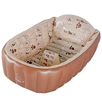 Amazon.com : Baby Bathtub Baby Child Can Sit Lie Folded Inflatable ...