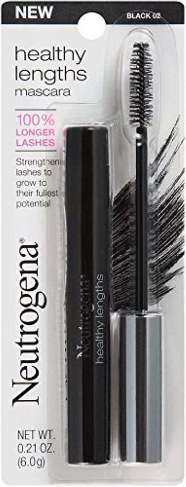 Neutrogena Healthy Lengths Mascara, Black [02] 0.21 oz (Pack of 2)