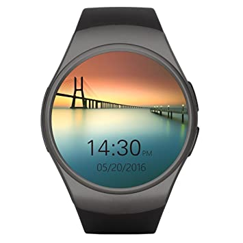Teléfono con Bluetooth Smart Watch King-Wear KW18 Tarjeta SIM con TF SmartWatch con frecuencia