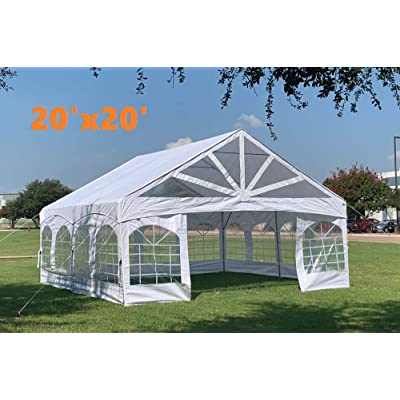 Heavy Duty PE Party Tent Canopy Shelter with Removable Window Walls - 20'x20' PE Marquee : Garden & Outdoor