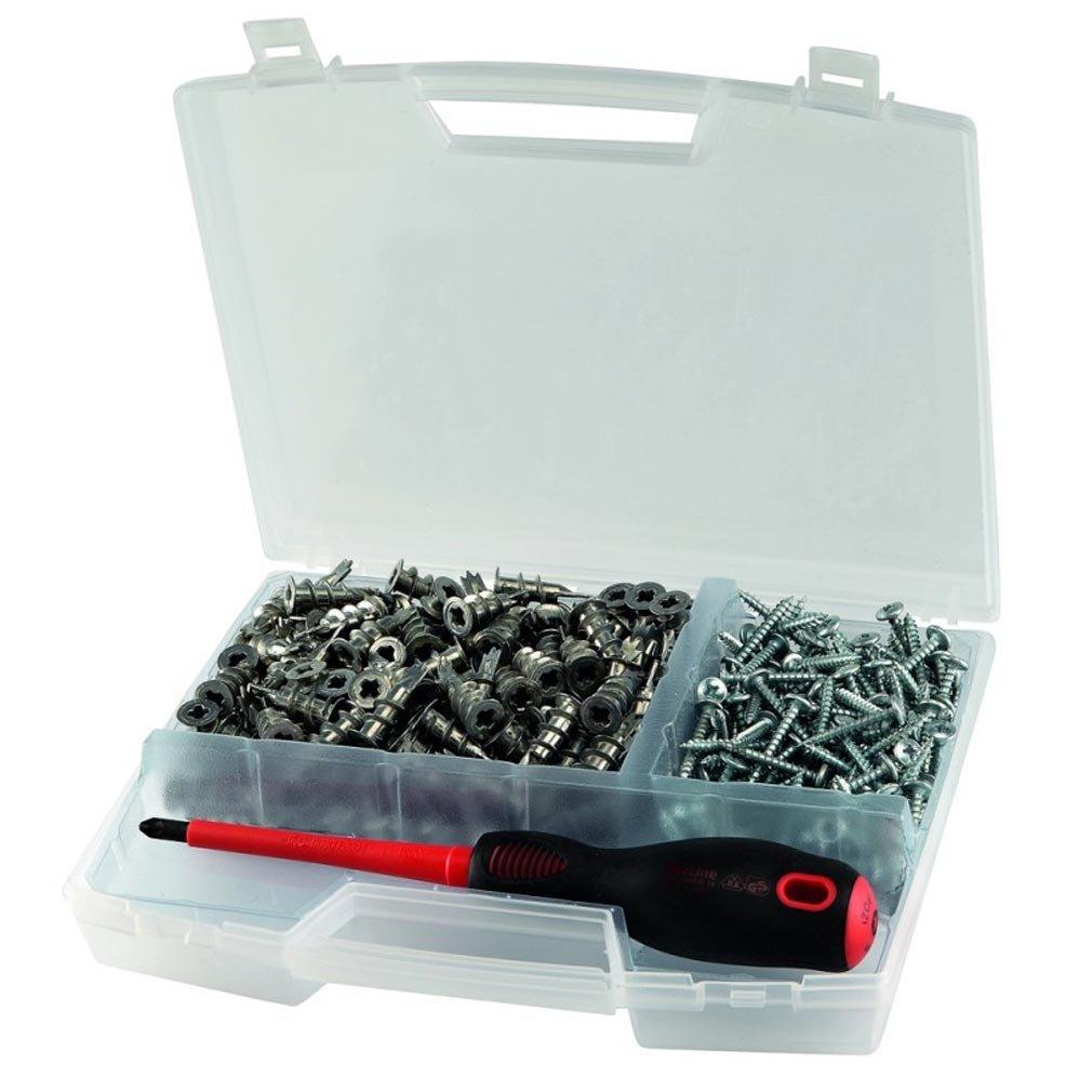 BizLine PIGG - Maletí n de tacos autoperforantes con tornillos para pladur (200 unidades)