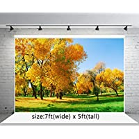 Kate 7x5 ft Fall Photography Backdrops Grass Yellow Tree Autumn Backgrounds Photo Booth Props