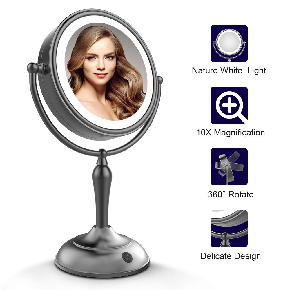 Amazon Com Kedsum 1x 10x Double Sided Led Lighted Makeup