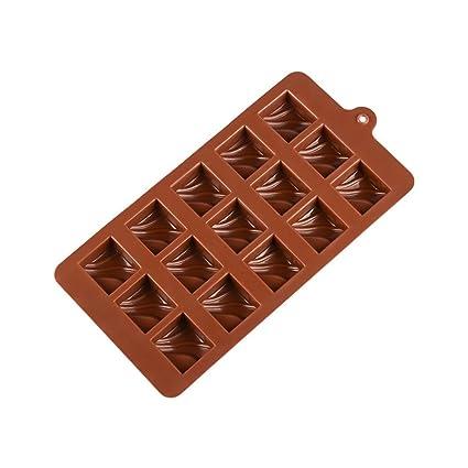 BESTONZON Bandejas de Hielo de Silicona 15 Esferas Redondas Cuadradas para Vino Whisky Chocolate Dulce (