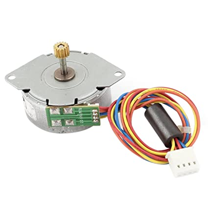 Buy uxcell DC 12V 4 Phase 4 Wires Gear Stepper Motor Reduction ...
