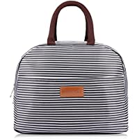 BALORAY Lunch Bag Tote Bag Lunch Organizer Lunch Holder Insulated Lunch Cooler Bag for Women/Men (Black)