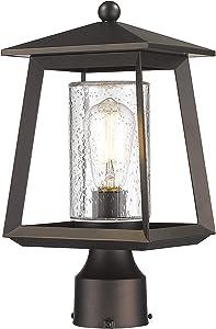 Rosient Outdoor Post Lights, Exterior Pillar Lantern, Pier Mount Lights, Garden Lamp Post Lighting Fixture