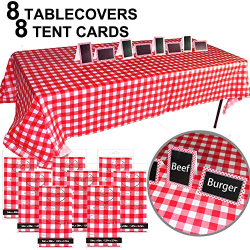 JALOUSIE Value Bundle Table Covers Party Decoration 8 Pack 54
