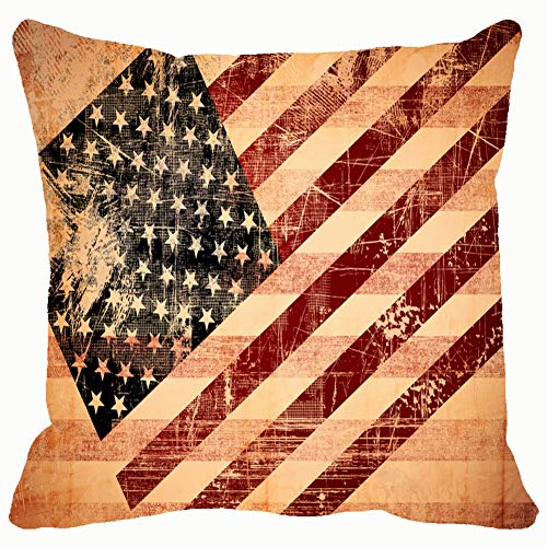 - DWone Hat Grunge American Flag Backgrounds Textures Background Backgrounds Textures Vintage Background Vintage Decorative Pillow Case Home Decor Pillowcase (18x18 Inches) Colourful