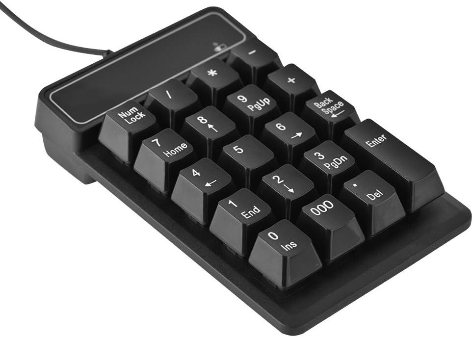 Fishlor Numeric Keypad 1.5M 5FT USB Wired 19 Keys Numeric Keypad Number Pad for Windows Laptop Desktop PC USB Numeric Keypad