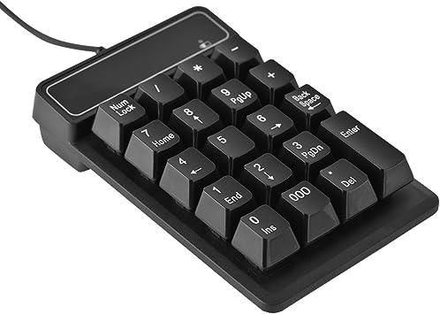 Teclado con Cable USB, 19 Teclas Teclado numérico a Prueba de Agua Teclado numérico para Windows Laptop/Desktop/PC