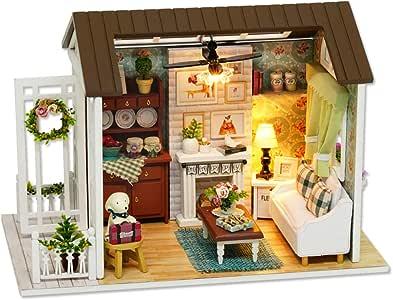 DIY Miniature Dollhouse Kit Realistic Mini 3D Wooden house Room Craft Toy