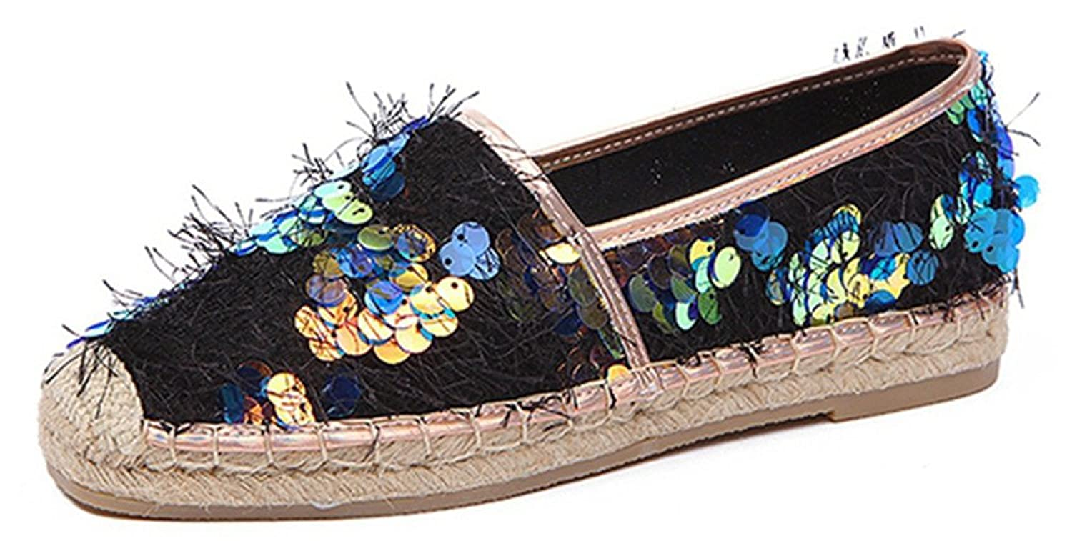 ACE SHOCK Loafer Flats Women Slip-on Casual Moccasins Driving Shoes Sequin
