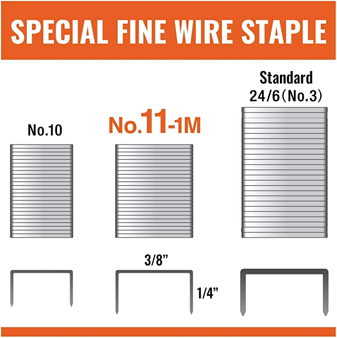Max No 11-1M Staples For Vaimo Staplers 6 Packs