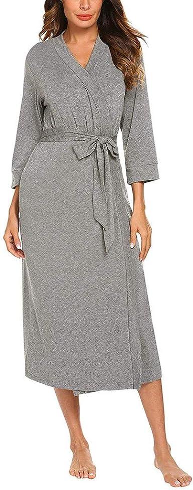 STRIR Señoras Robe Toweling algodón Bata Albornoz Mujeres ...