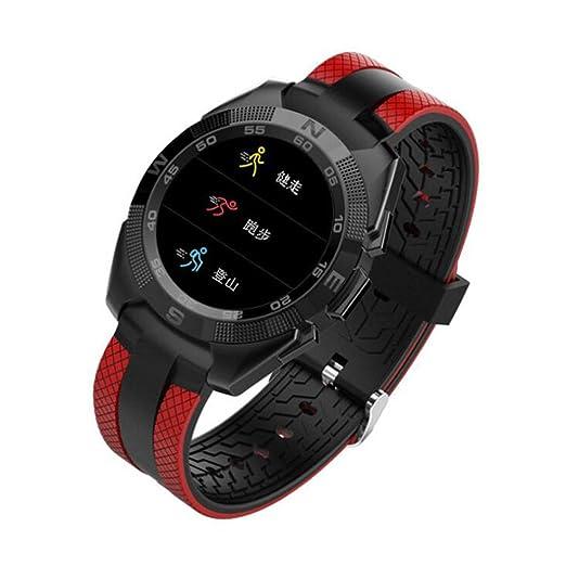 Reloj Deportivo Pantalla Redonda Ultrafina Reloj Inteligente Información Recordatorio Monitorización de la Salud Llamada Bluetooth Pulsera