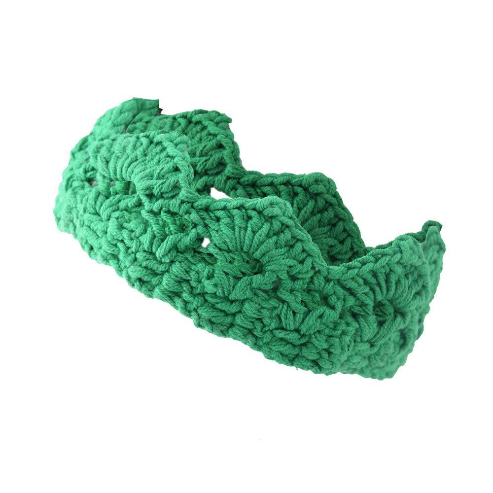 Winsummer Cute Newborn Infant Baby Girl Boy Crochet Knit Crown Headband Tiara Hat Handmade Photograph Prop Toddlers