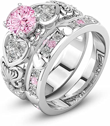Girls Creative Two-color Love Alloy Ring With God All things Possible Size 6-10
