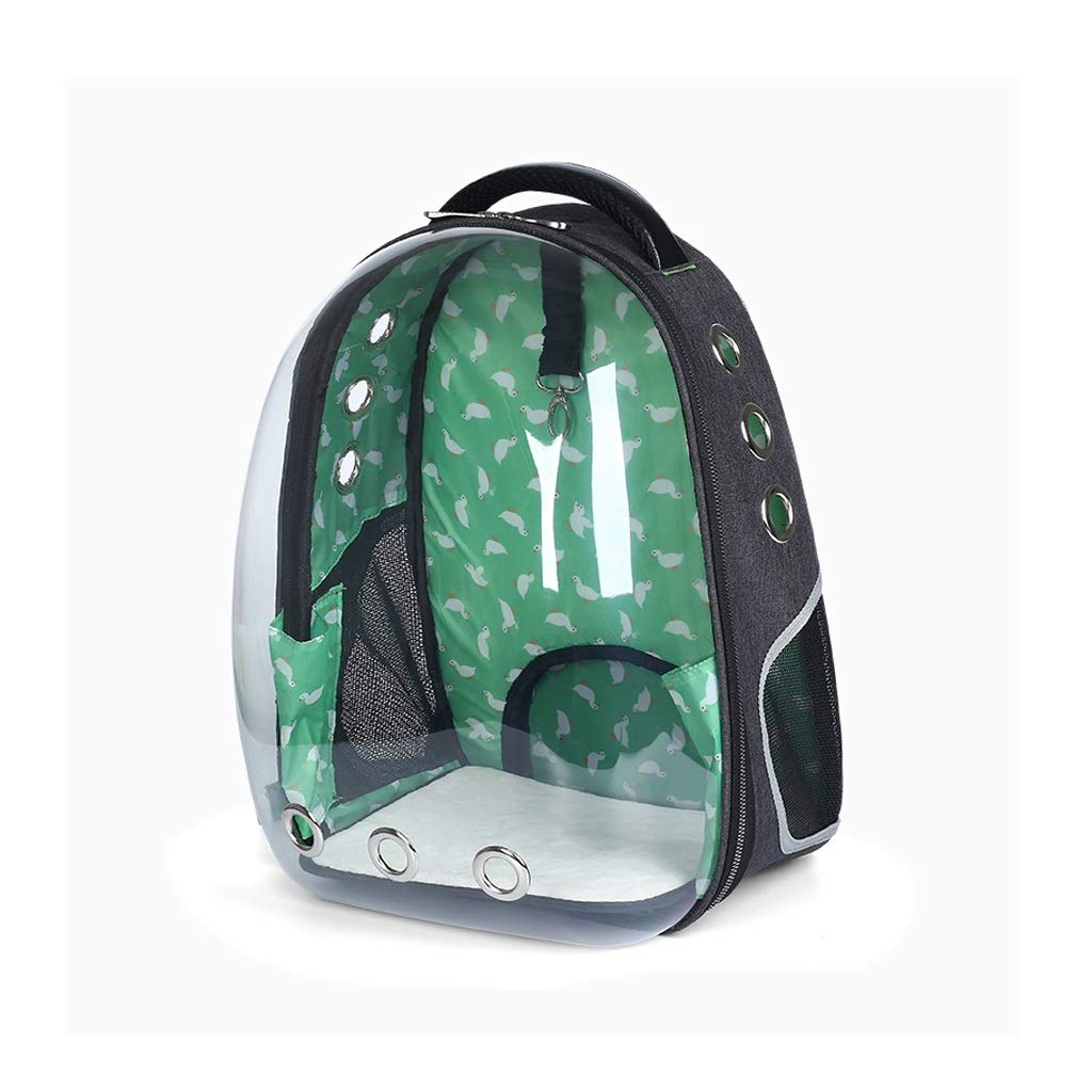 GREEN Pet Supplies pet Bag Outer Shoulder Space Capsule Pet Backpack, Portable Breathable Backpack, Handbag Suitable Going Out (color   Green)