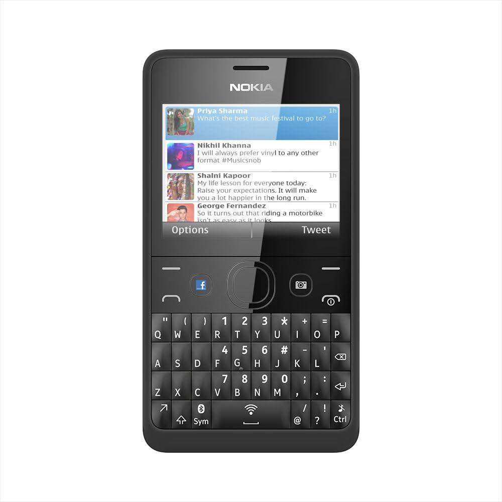 Nokia Asha 210 - Teléfono móvil libre, color negro (importado): Amazon.es: Electrónica