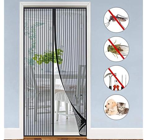 JIT-FUNG Malla mosquitera Standard para ventanas, 3 unidades, 1,3 m x 1,55 m de insectos de la protección de la ventana se puede cortar, con 3 rollos de cintas autoadhesivas, blanco -