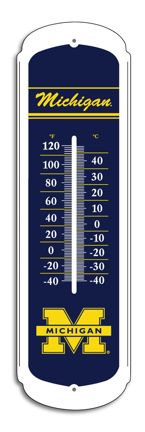BSI NCAA Teak 27-inch Outdoor Thermometer