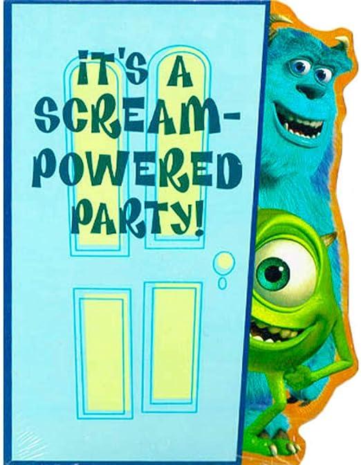 Amazon Com Monsters Inc Invitations W Envelopes 8ct Kitchen Dining