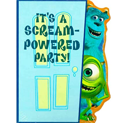 Amazon Com Monsters Inc Invitations W Envelopes 8ct Kitchen