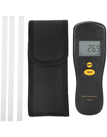 SMART SENSOR AR926 Negro Sin contacto Medidor de velocidad rotativo Fotómetro tacómetro Velocímetro