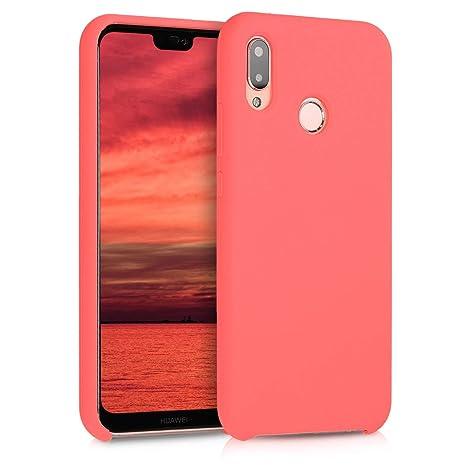 San Francisco 46926 20a53 kwmobile Huawei P20 Lite Cover - Custodia per Huawei P20 Lite in Silicone  TPU - Back Case Cellulare Corallo Fluorescente