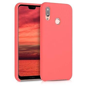 kwmobile Funda para Huawei P20 Lite - Carcasa de [TPU] para teléfono móvil - Cover [Trasero] en [Coral neón]