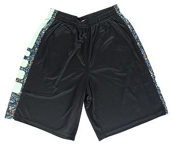 07a2bf74616e Nike Elite Stripe Men s Basketball Shorts Black Wolf Grey Arctic Green  545477-017 (SIZE  M)  Amazon.ca  Sports   Outdoors