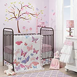 Lambs & Ivy Butterfly Garden 8-Piece Nursery to Go Crib Bedding Set