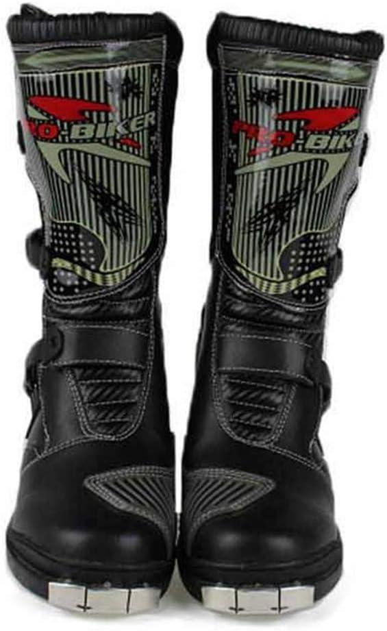 Ocamo - Stivali da Motociclista, da Uomo, Caldi e Professionali, Traspiranti Bianco 40.