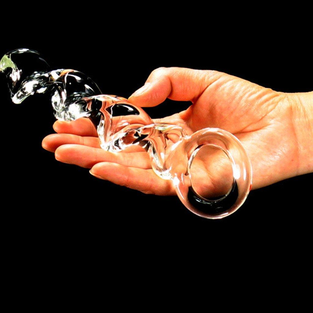 SYXL El Orgasmo del Femenino Realista del Orgasmo Cristal del pene estimula el masajeador del Punto G - 100% hidrófugo (20 * 5.6 * 3.7 * 3.5 * 3.2 * 2.8cm) 7fd392
