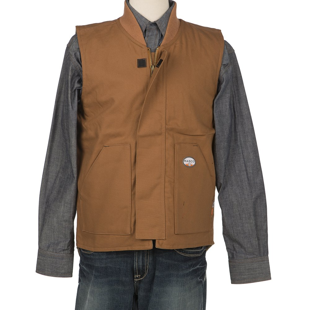 Rasco FR Mens Brown Duck Work Vest BDV5501