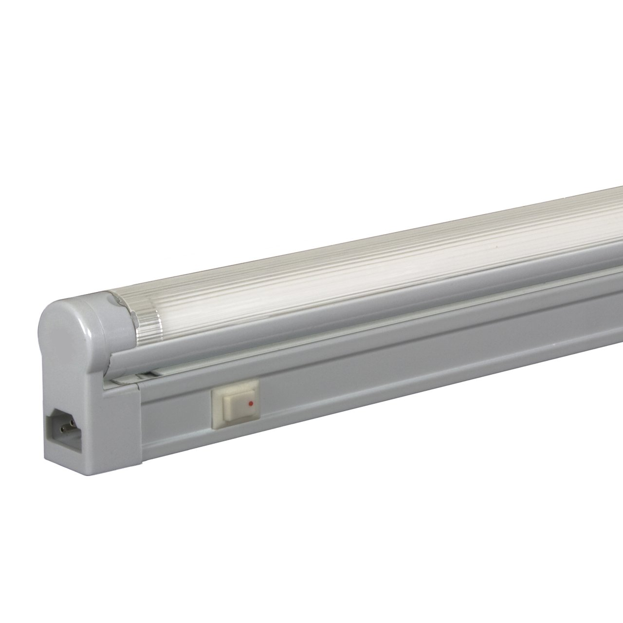 Jesco Lighting SG5A-28SW/41-SV Sleek Plus Adjustable Grounded 28-Watt T5 Light Fixture, 4100K Color, Silver Finish, With Switch