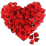 Vosarea 2400pcs Artificial Rose Petals Fake Flower Petals for Valentine Day Wedding Flower Decoration Supplies (Dark Red…