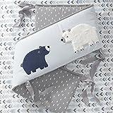 Lambs & Ivy Signature Montana Blue/Gray/Brown Bear 4 Piece Crib Bumper