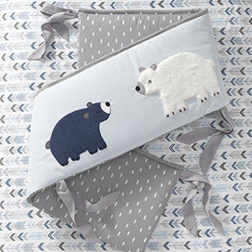 Lambs & Ivy Signature Montana Blue/Gray/Brown Bear 4 Piece Crib Bumper by Lambs & Ivy