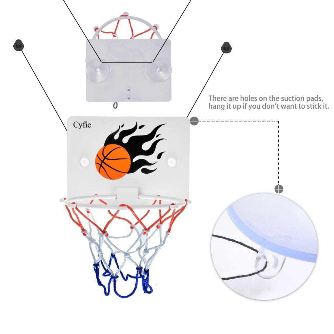 Milkee Mini Panier de Basket pour Adulte Bureau Tableau Jeux de Tir B/éb/é Jouet de Bain Enfant Loisir Sport Basketball