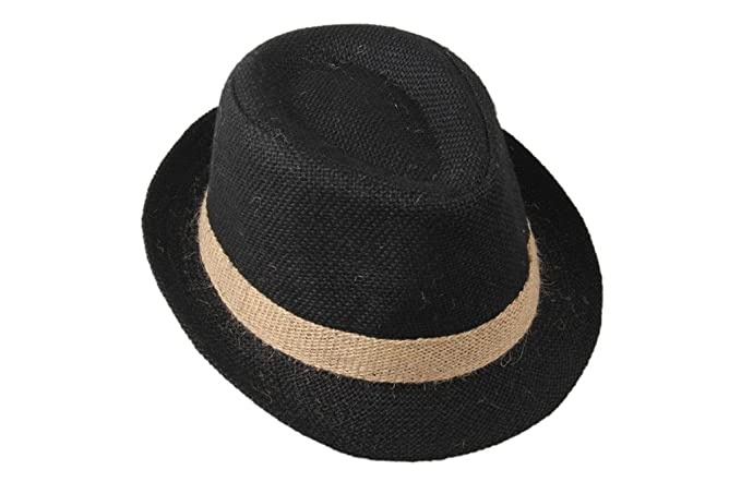 36352b39fe3 Amazon.com  Dantiya Little Boys  Kids Linen Straw Band Fedoras Hat ...