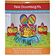 "Fun-filled Fiesta Cinco de Mayo Party Table Decorating Kit, 20 Pieces, Made from Foil, Mexican Theme Party, 12 3/4"" by Amscan"