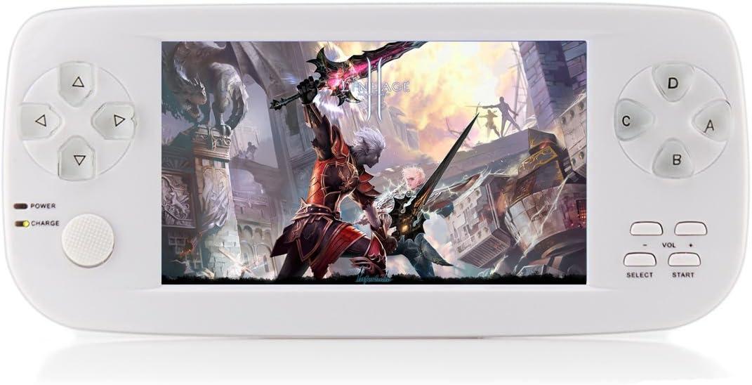 CXYP Consola de Juegos Portátil, 3000 Juegos Retro 4.3 Pulgadas 16 GB Consolas de Videojuegos Portátiles con Cámara Nueva Versión (Blanco)