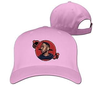 Adult Kendrick Lamar Icon Global Citizen Cotton Adjustable Peaked Baseball Cap Pink