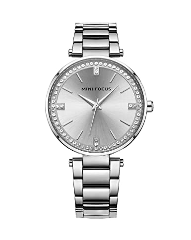 c6ec5a4138fb Silver Women'S Diamond Watch With Stainless Steel Band Classic Popular Nice  Trendy Graceful Ladies Watch