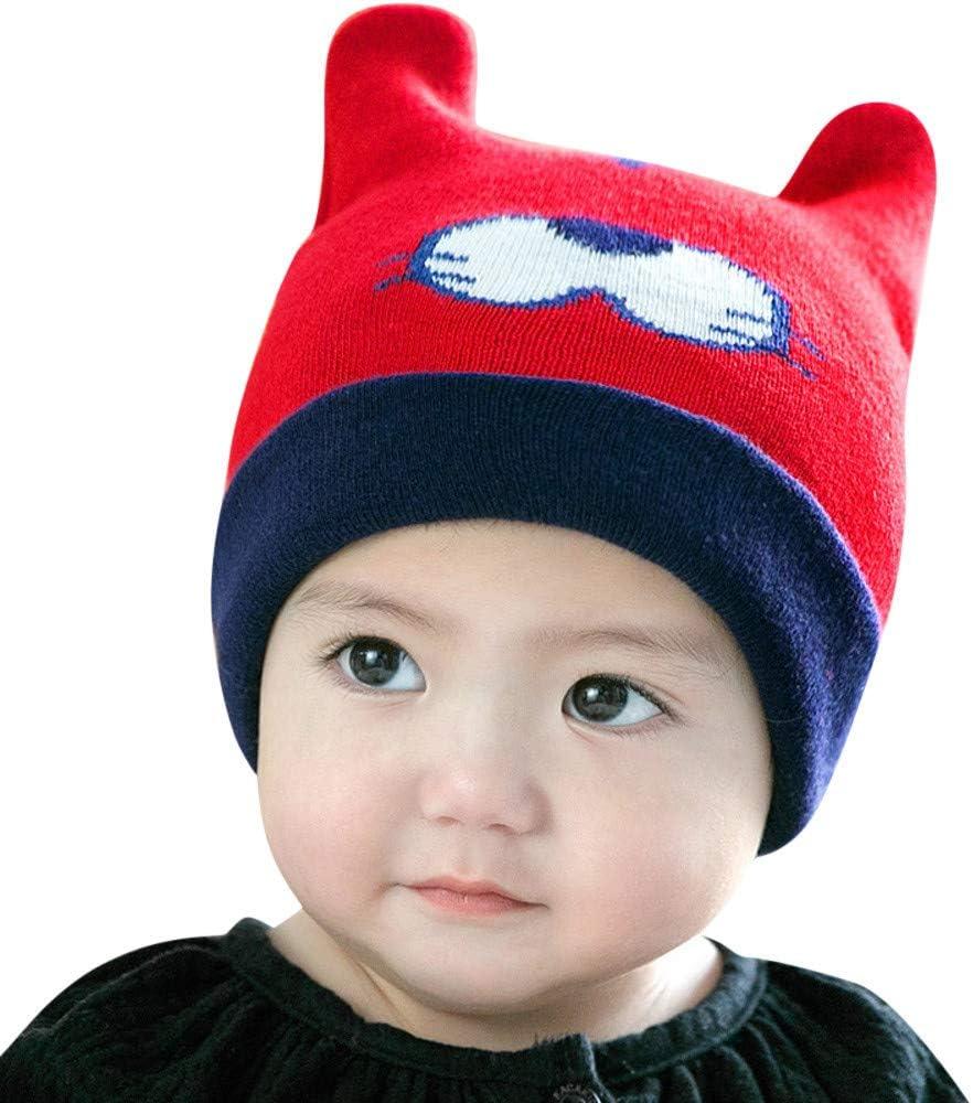 Mitlfuny Niños Niñas Sombreros de Punto Algodón Gruesa para Bebé ...